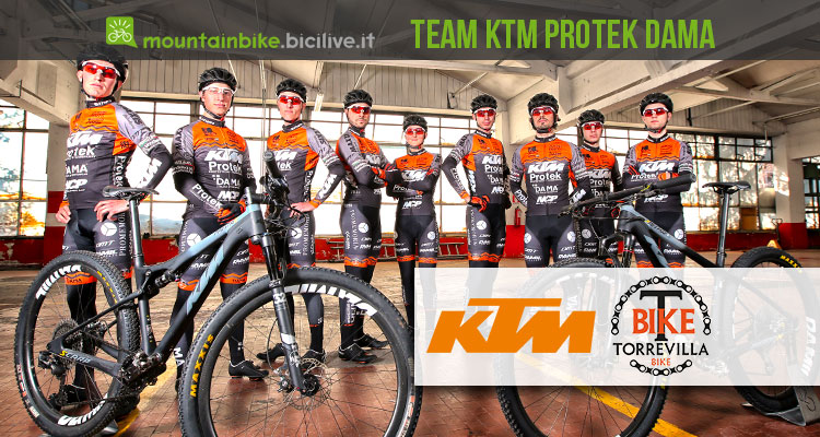 Il Team KTM Protek DAMA e Torrevilla MTB