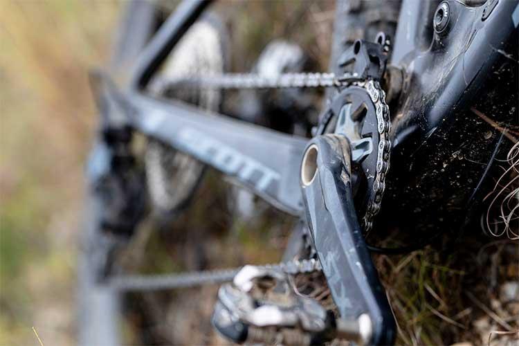 foto dello shimano deore xt su una bici