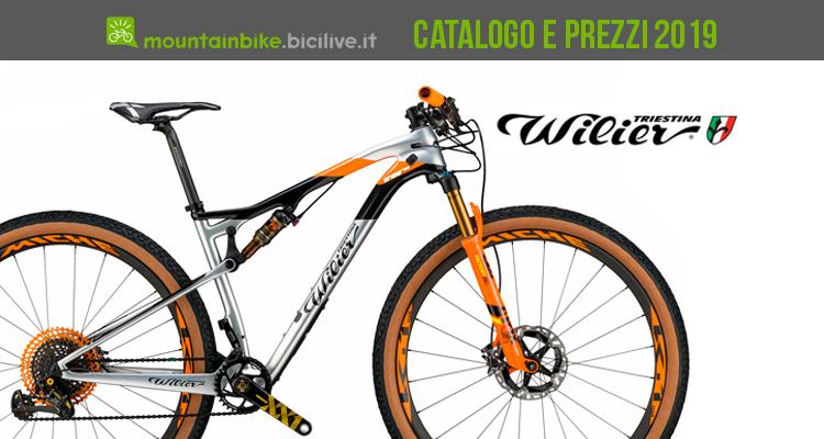 bici mtb wilier triestina modello 110fx catalogo 2019
