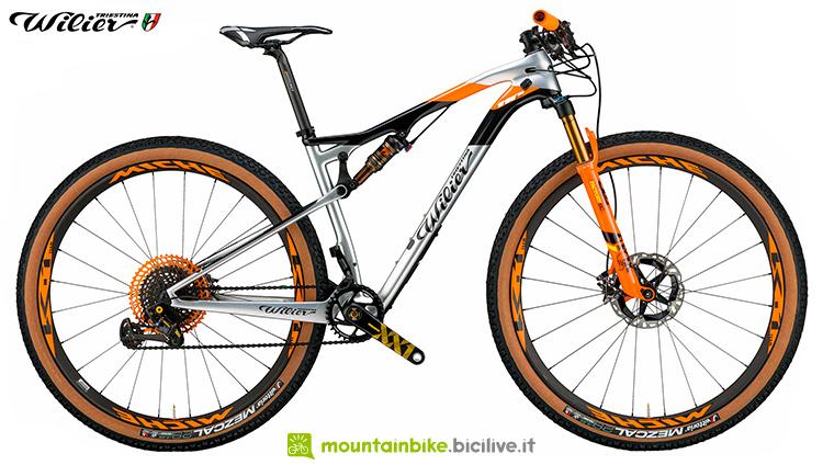 mtb bici wilier triestina modello 110fx visuale laterale 2019