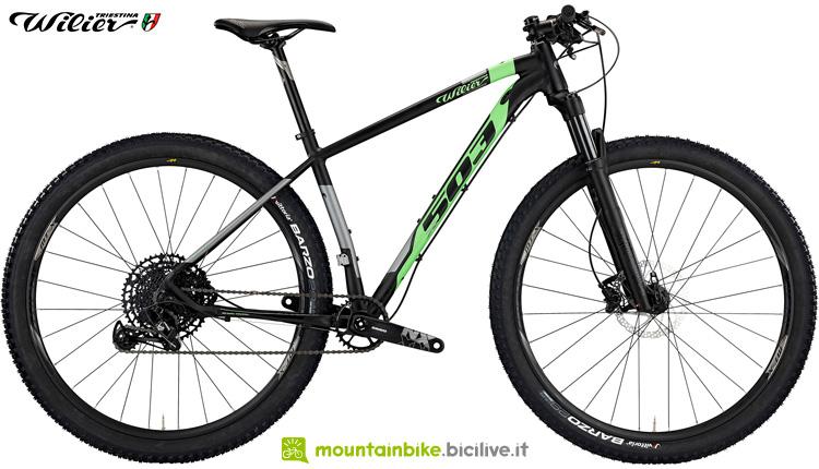Una mountain bike Wilier Triestina 503X Pro della gamma 2019