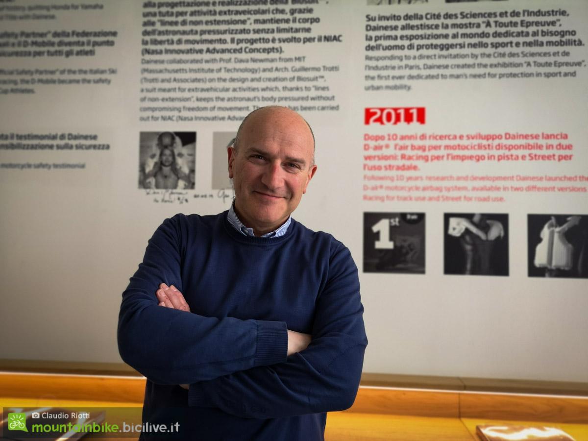 Vittorio Cafaggi, CEO del D-Lab di Dainese e nostra guida nel DAR.