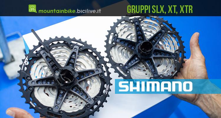 Gruppi Shimano XTR, XT e SLX a 12 velocità