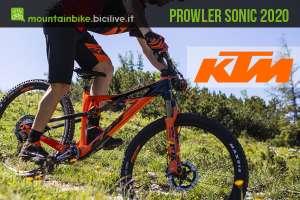 KTM Prowler Sonic 2020, una mtb 29 polivalente in carbonio