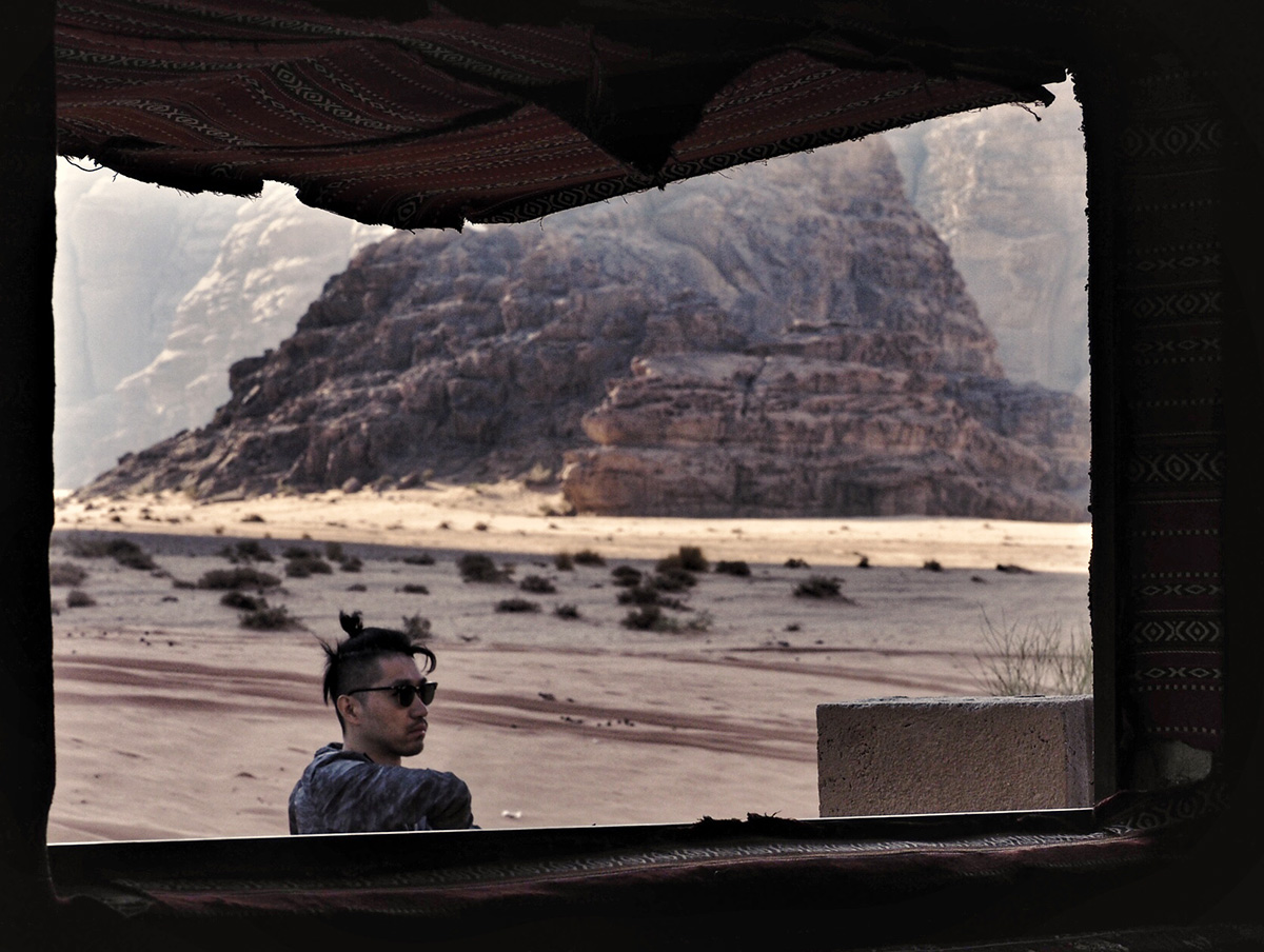 Accampamento nel deserto di Wadi Rum