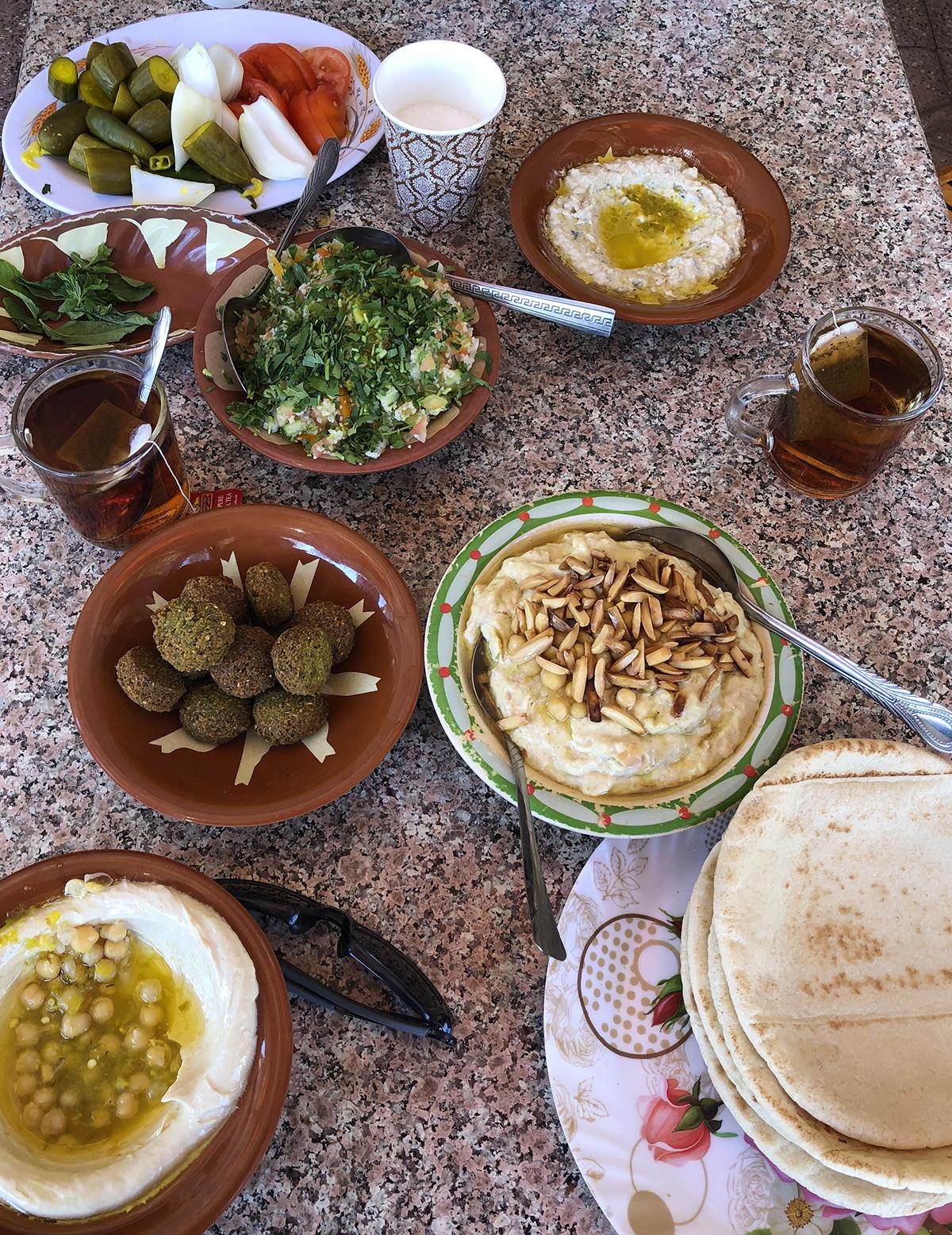 Colazione a Wadi Rum prima di ripartire