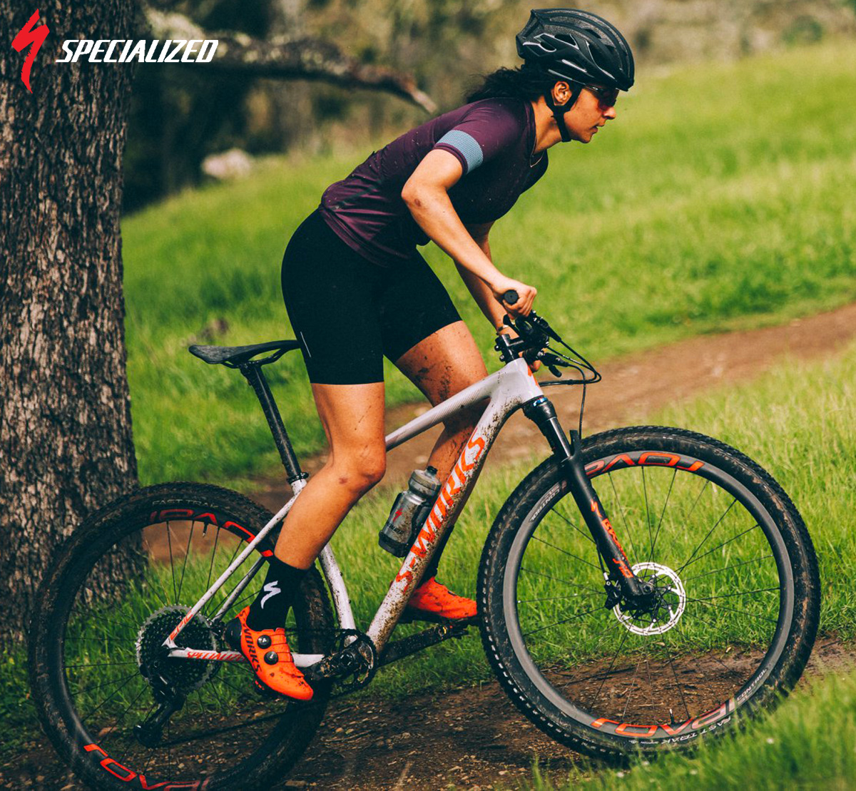la bicicletta mtb specialized epic hardtail in azione