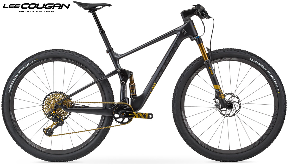 Una mtb Lee Cougan Crossfire Air Black Gold 2020