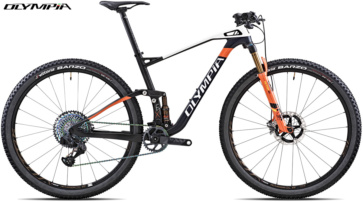 Una mountain bike full Olympia F1-X Race XX1E AXS 2020