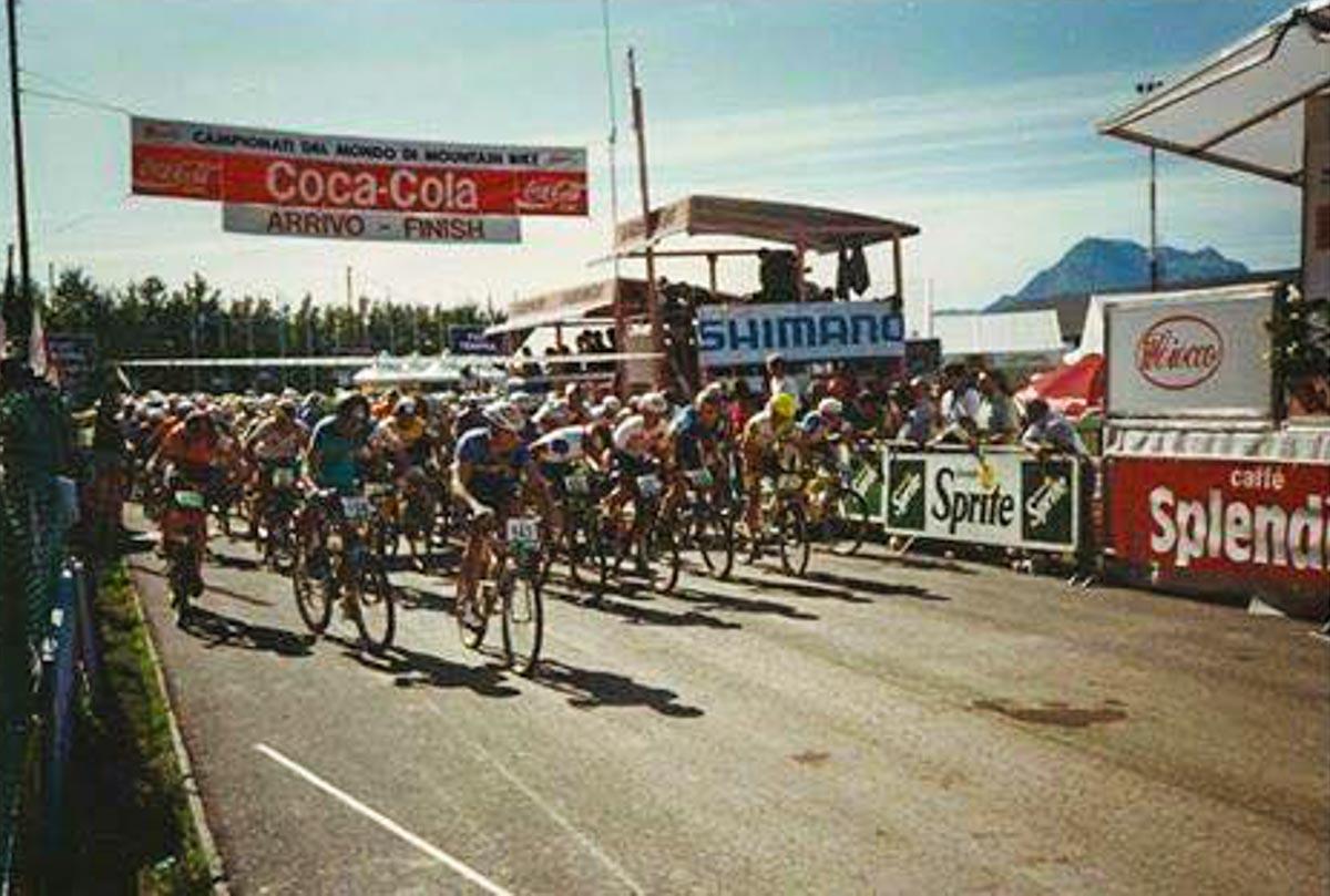 foto della partenza della gara xc al ciocco nel 1991