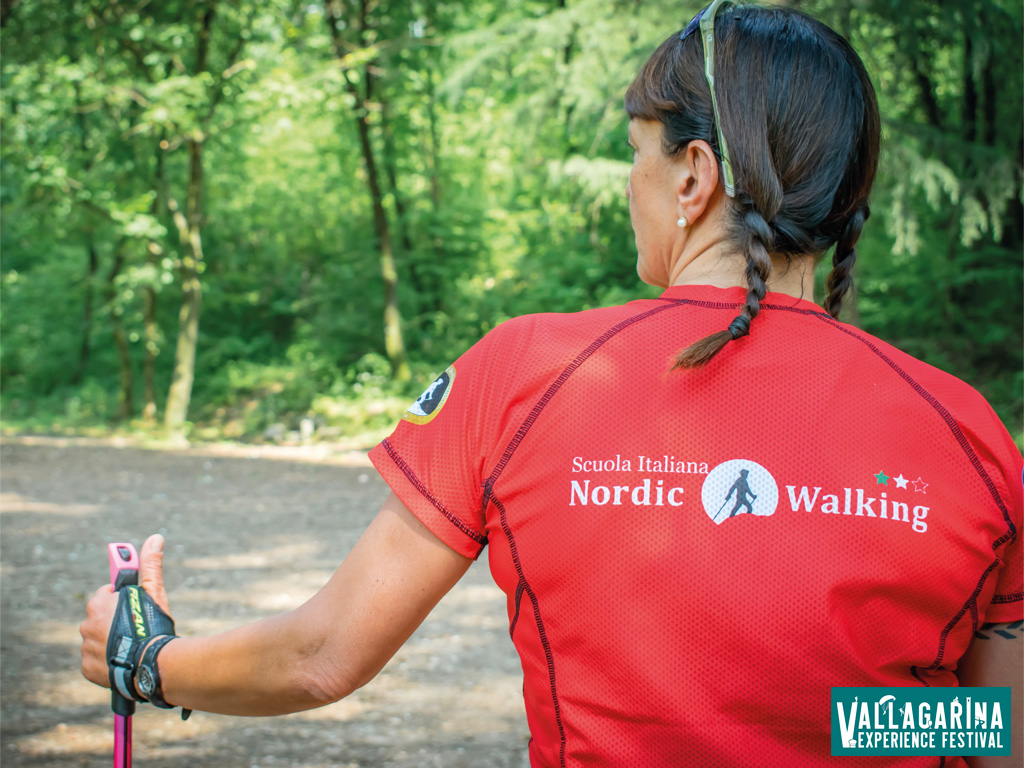 Guida di nordic walking in Vallagarina