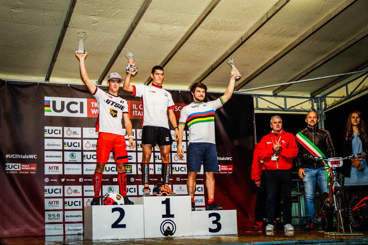 """Nella categoria 20"""" primo Borja Conejos, seguito dai connazionali Alejandro Montalvo e Ion Areitio."""
