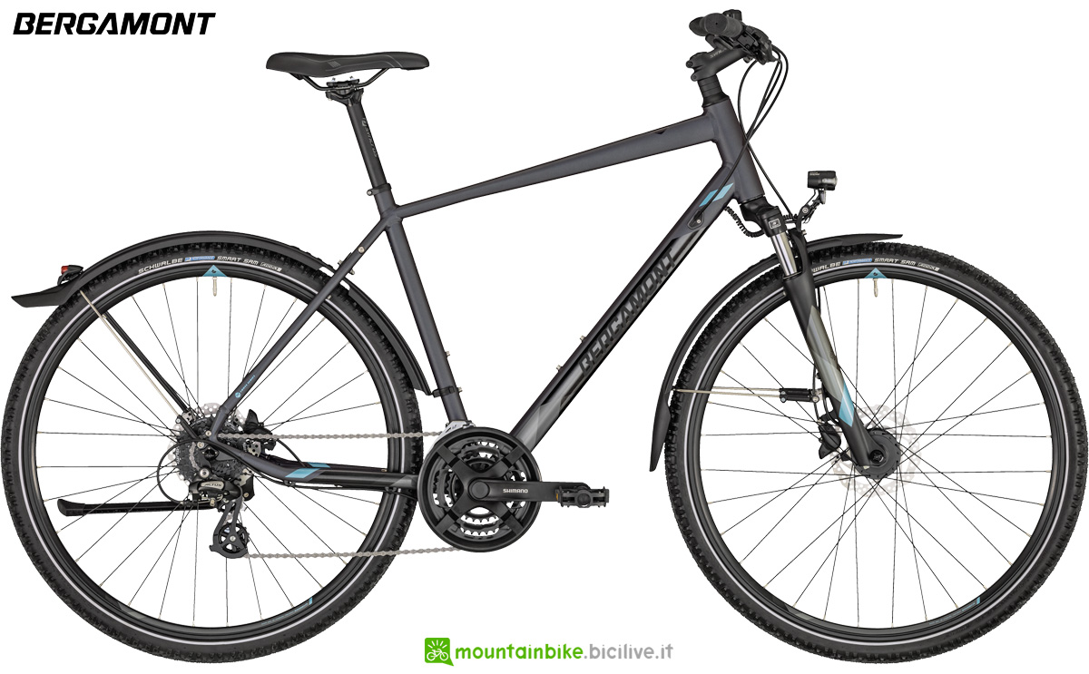Una bicicletta Bergamont Helix 4 EQ Gent