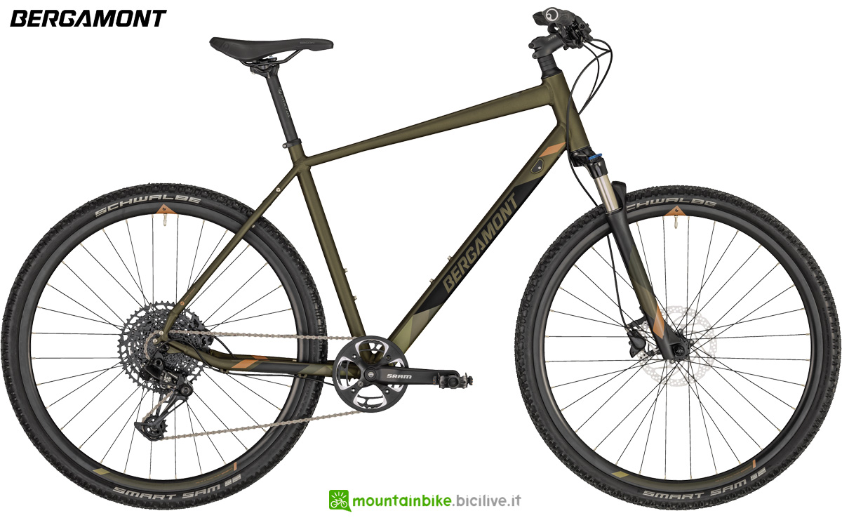 Una bicicletta ammortizzata anteriormente Bergamont Helix 7