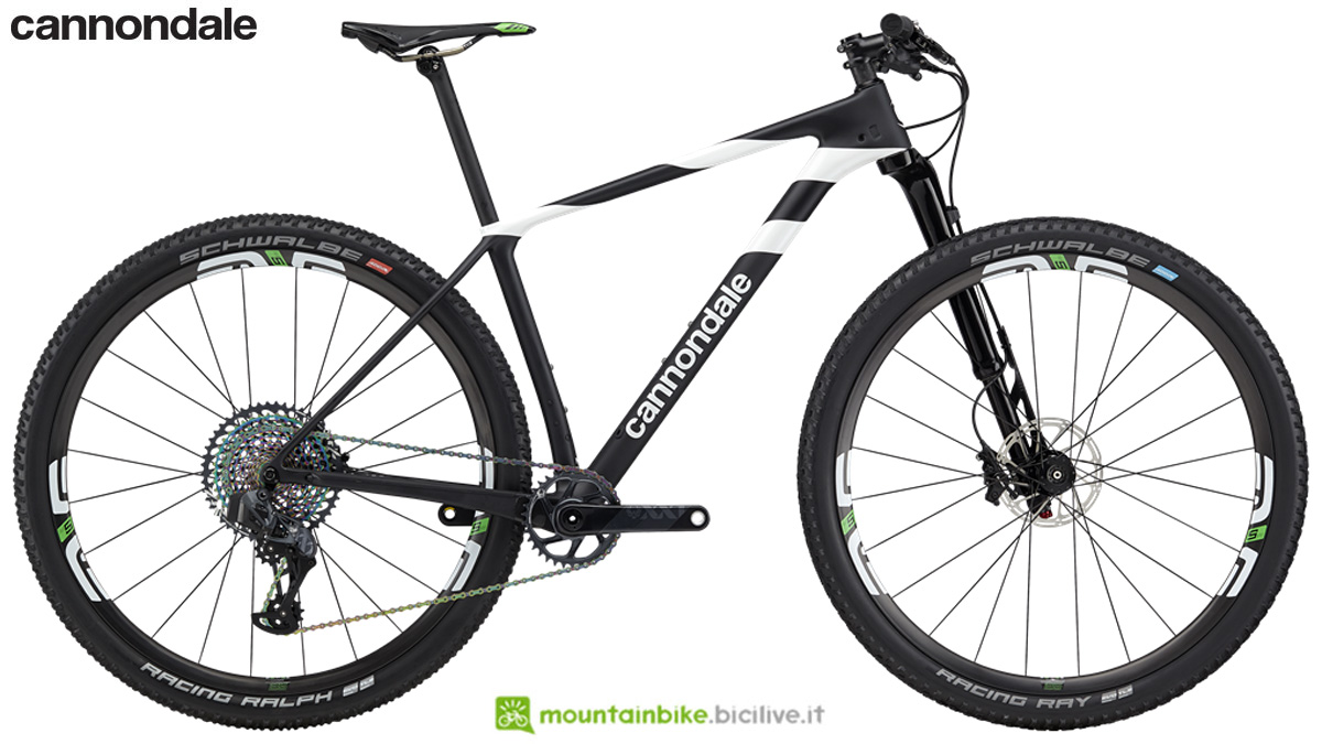 Una mountain bike full suspended Cannondale F-Si Hi-Mod World Cup dal catalogo 2020
