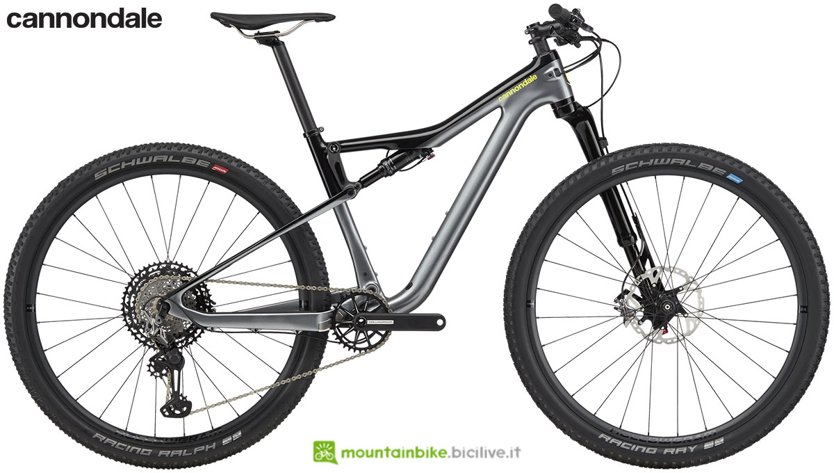 Una mtb full suspended Cannondale Scalpel Si Carbon 2 anno 2020