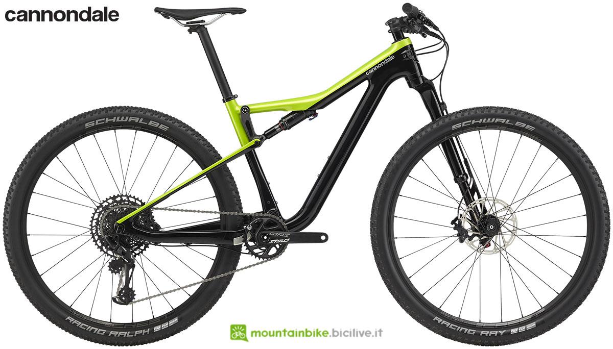 Una bicicletta Cannondale Scalpel Si Carbon 4 dal catalogo 2020