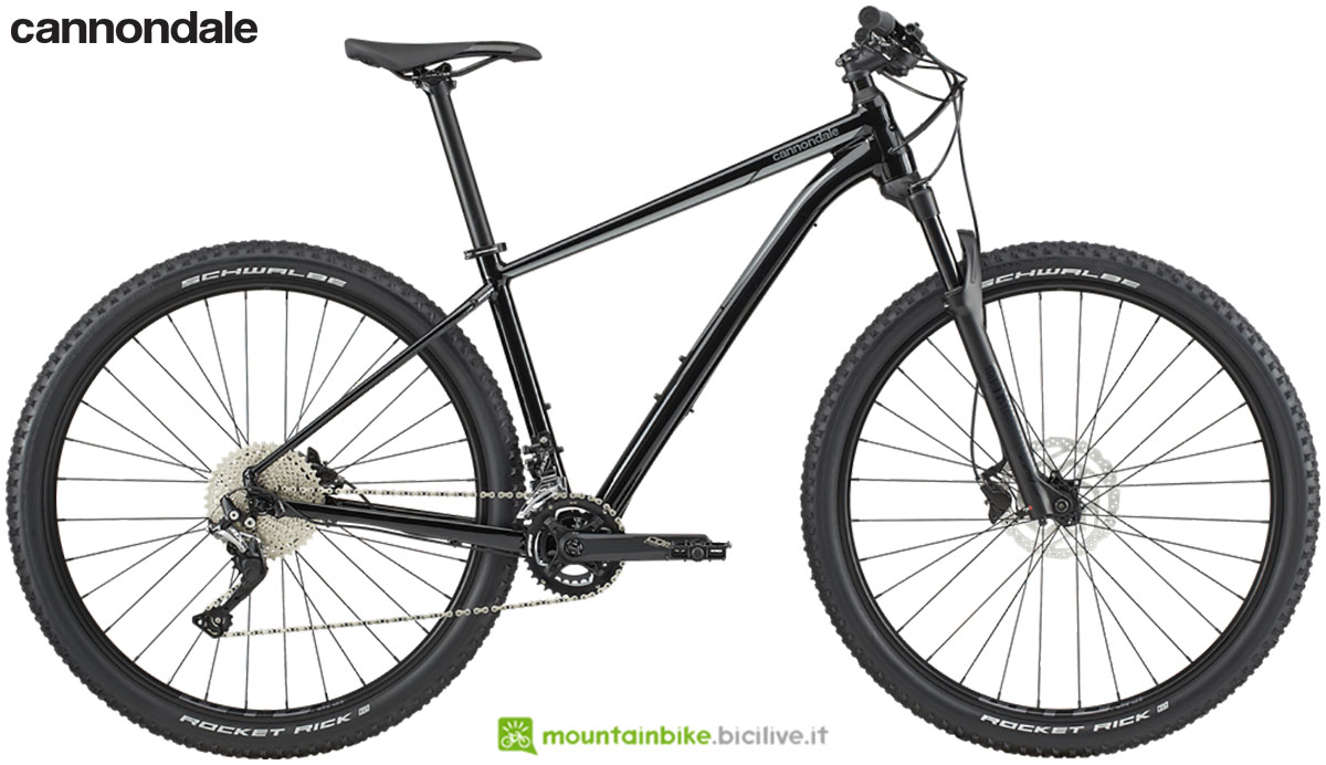 Una mountain bike front suspended Cannondale Trail 3 dal catalogo 2020