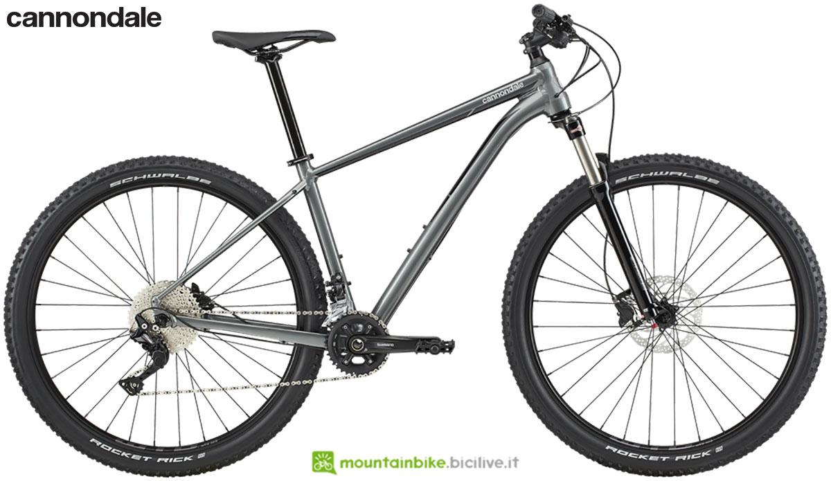 Una bicicletta da offroad Cannondale Trail 4 2020