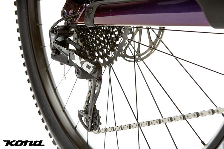 """La bici mtb Kona Process 153 CR/DL 29"""" con montata la trasmissione SRAM Eagle X01 2020"""