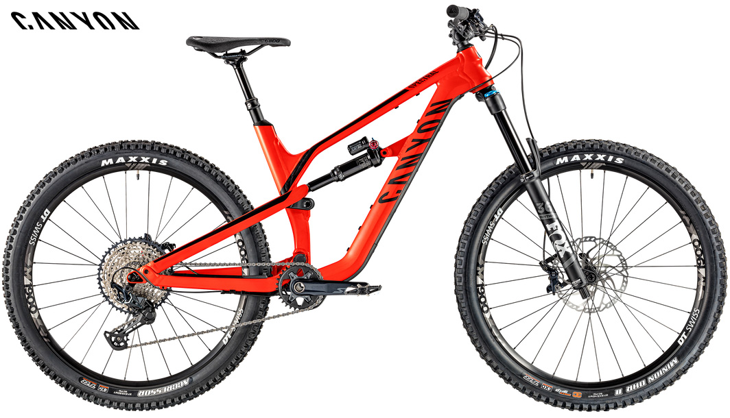 Una mountain bike biammortizzata Canyon Spectral AL 6.0