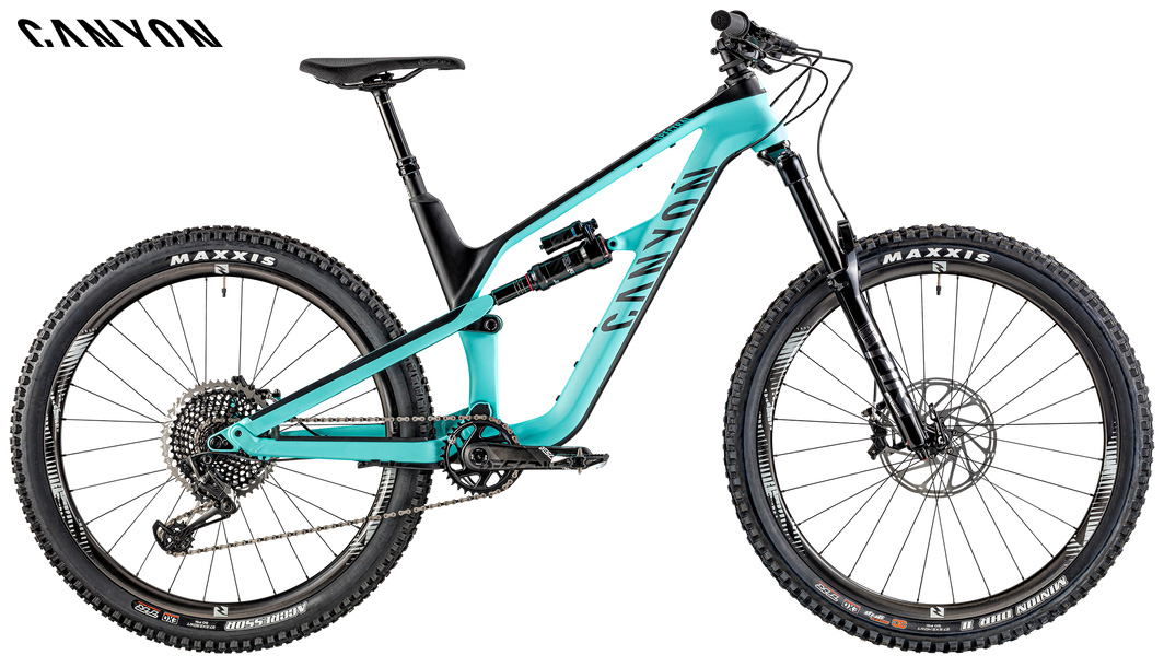 Una mountain bike biammortizzata Canyon Spectral CF 9.0 anno 2020