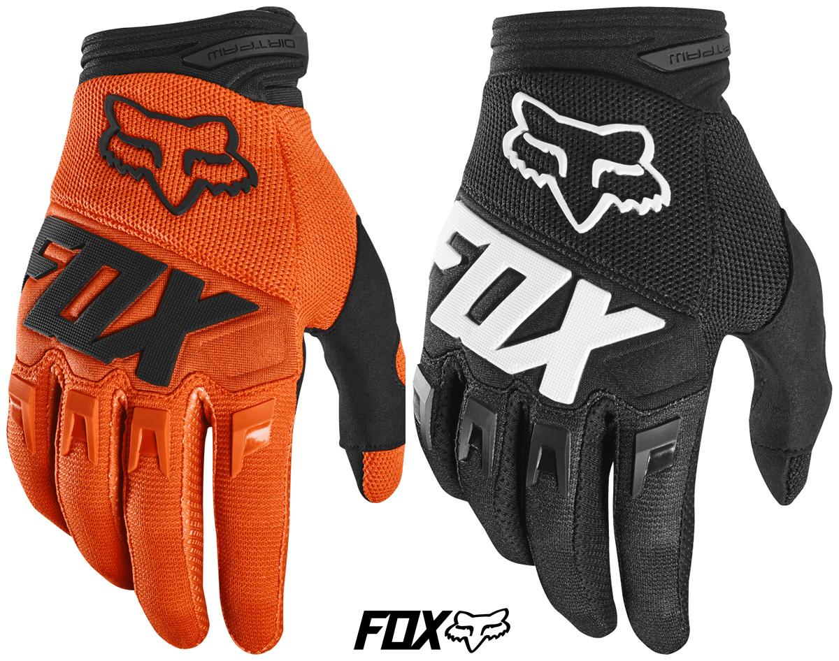 Guanti tecnici da MTB Fox Racing Dirtpaw Gloves nei colori arancione e nero