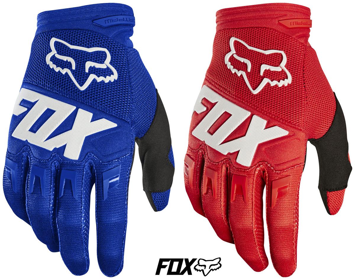 Guanti per MTB Fox Dirtpaw Gloves nei colori blue e rosso