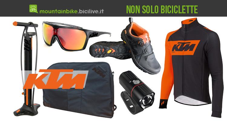 KTM abbigliamento e accessori ciclismo e MTB