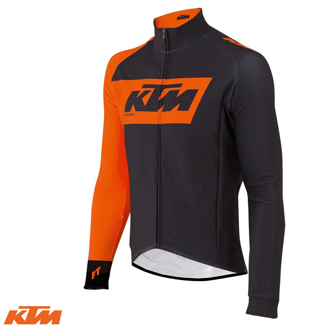 Una Giacca invernale a maniche lunghe Factory Team Race XW nera e arancione 2020