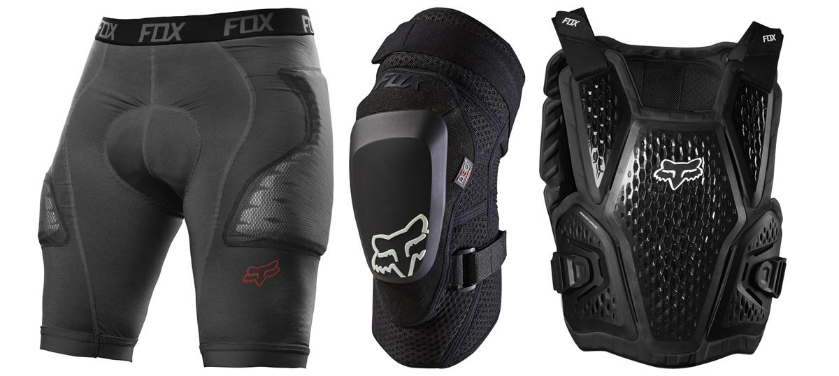 Prodotti Fox Racing per la protezione del corpo del rider MTB