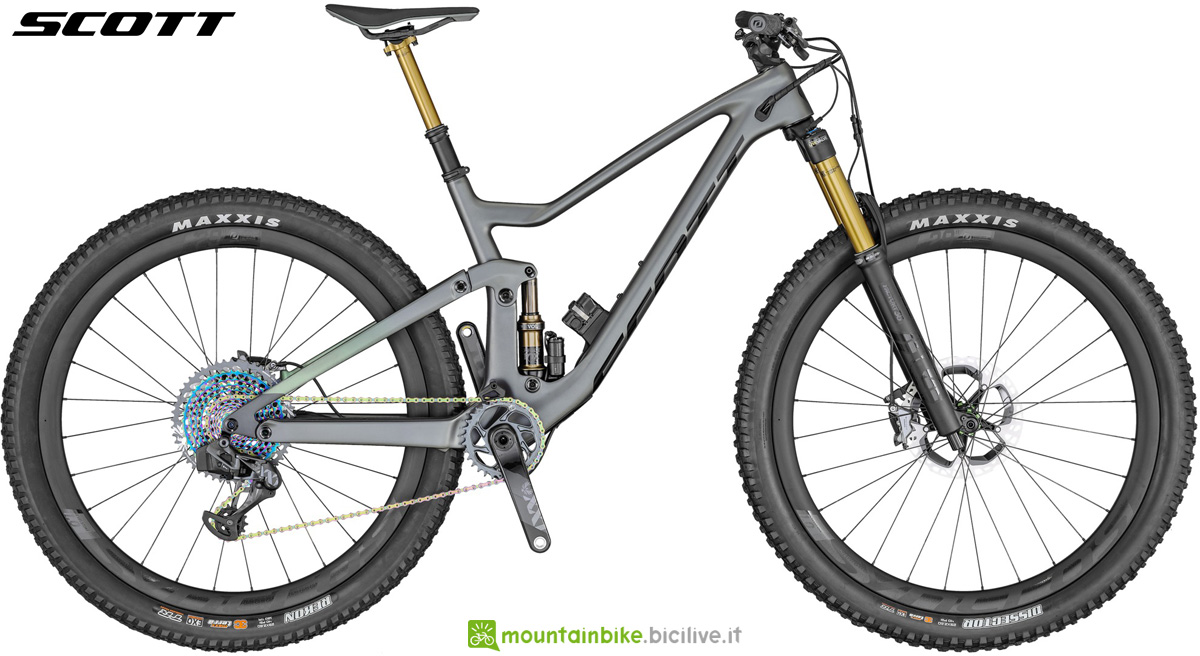 Una mtb biammortizzata da trail Scott Genius 900 ULTIMATE AXS dal catalogo 2020