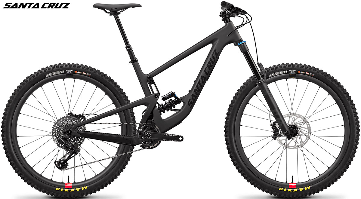 Una bici mtb Santa Cruz Megatower 1 C S-Kit Coil Blackout 2020