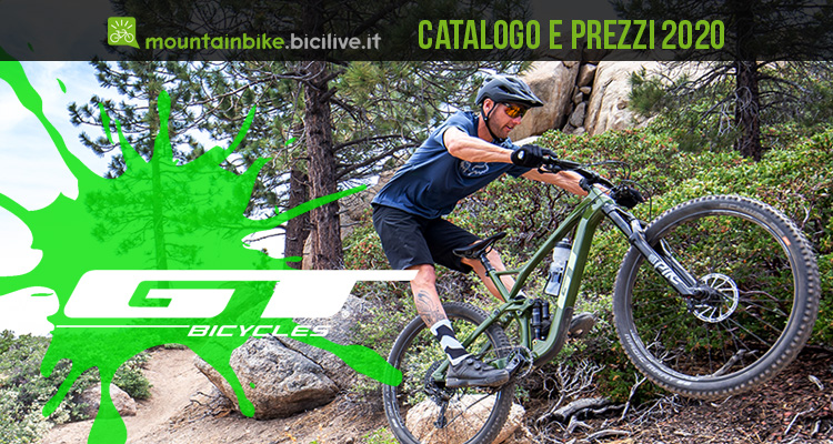 GT Bicycles mtb 2020: catalogo listino prezzi mountain bike