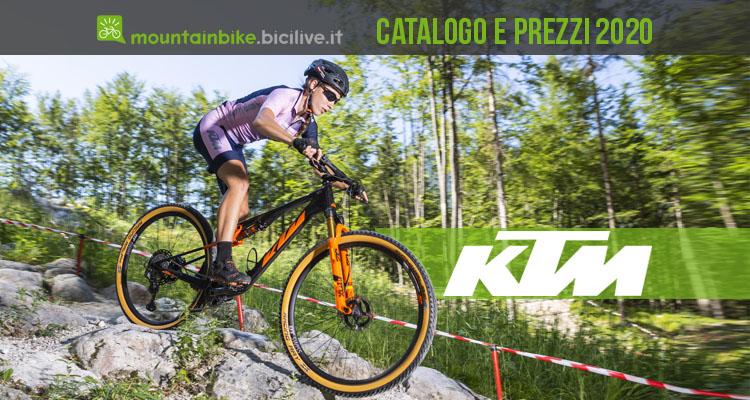 KTM mountain bike 2020: catalogo listino prezzi mtb muscolari