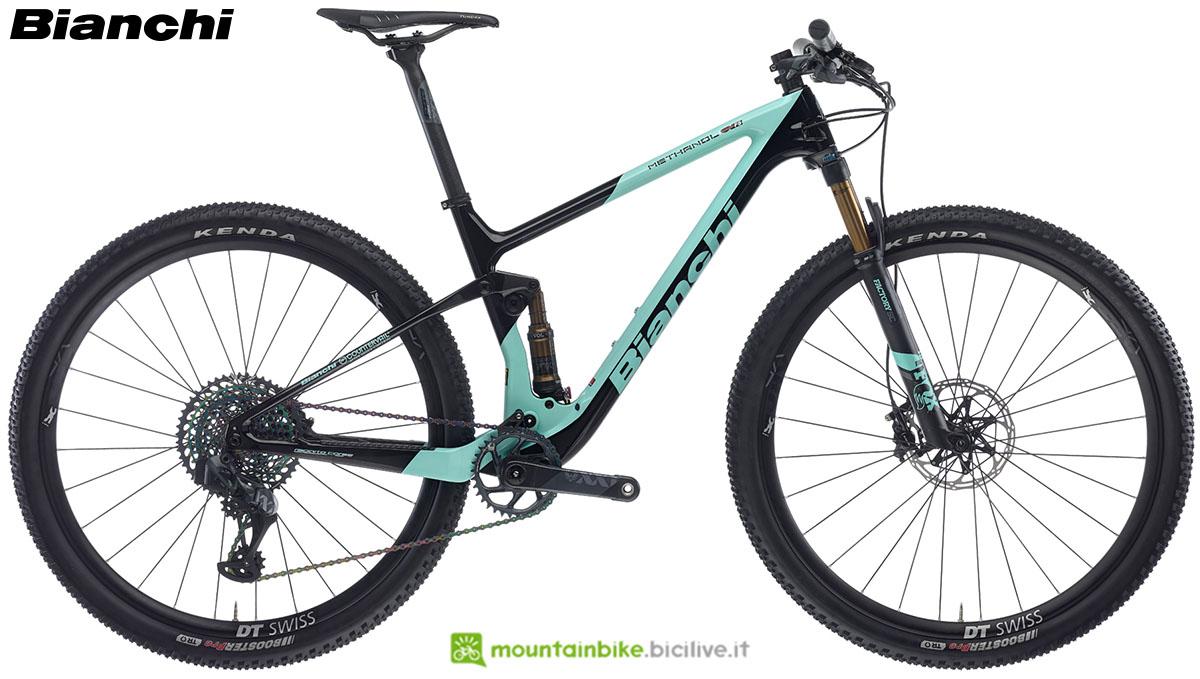 Una bici Bianchi Methanol CV FS 9.1 2020
