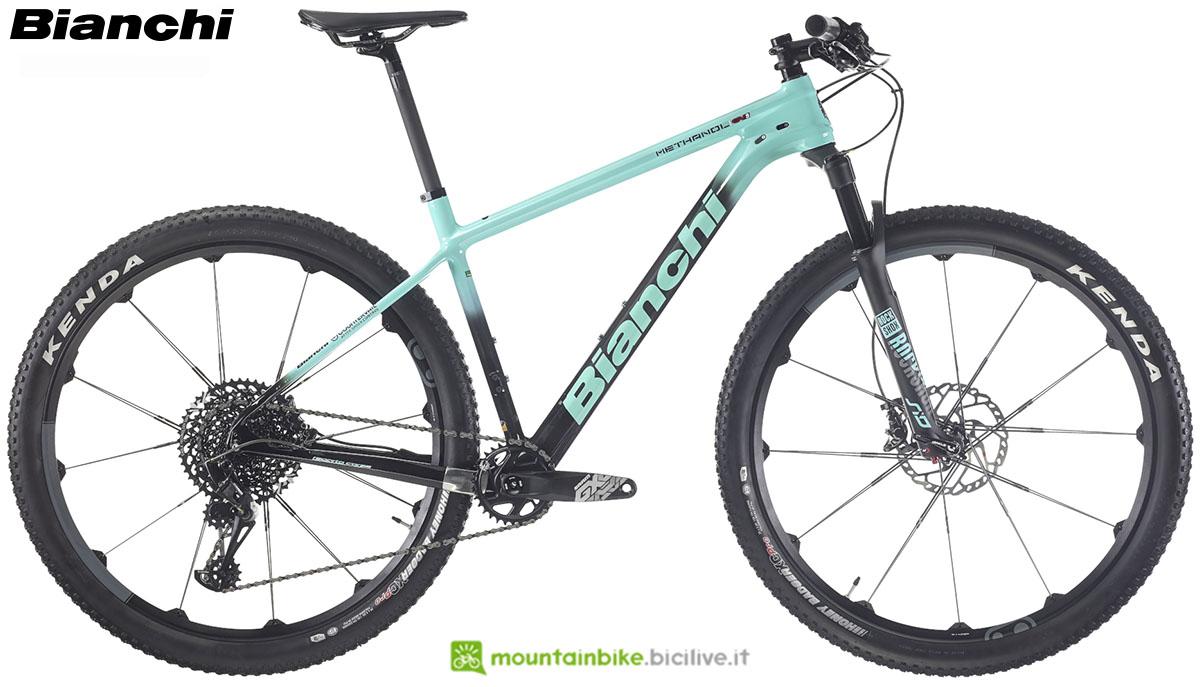 Una bici Bianchi Methanol CV S 9.1 2020