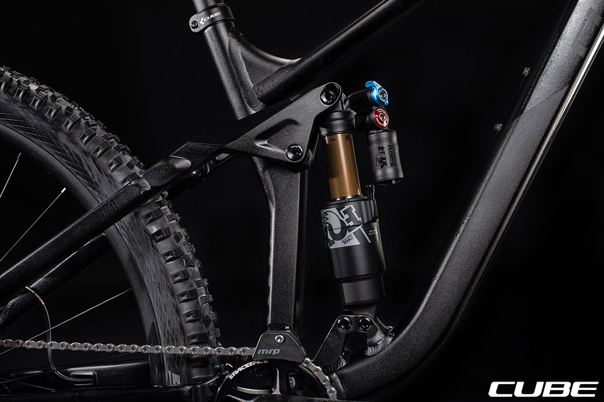La bici Cube Stereo 170 SL 29 con montato l'ammortizzatore FOX Float X2 Factory ad aria 2020