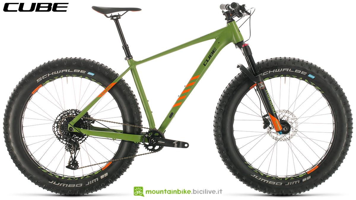 Una bici Cube Nutrail 2020