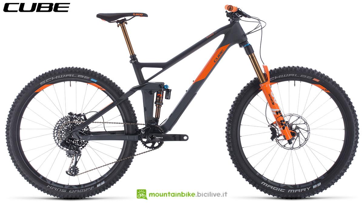 Una bici Cube Stereo 140 HPC TM 27.5 2020