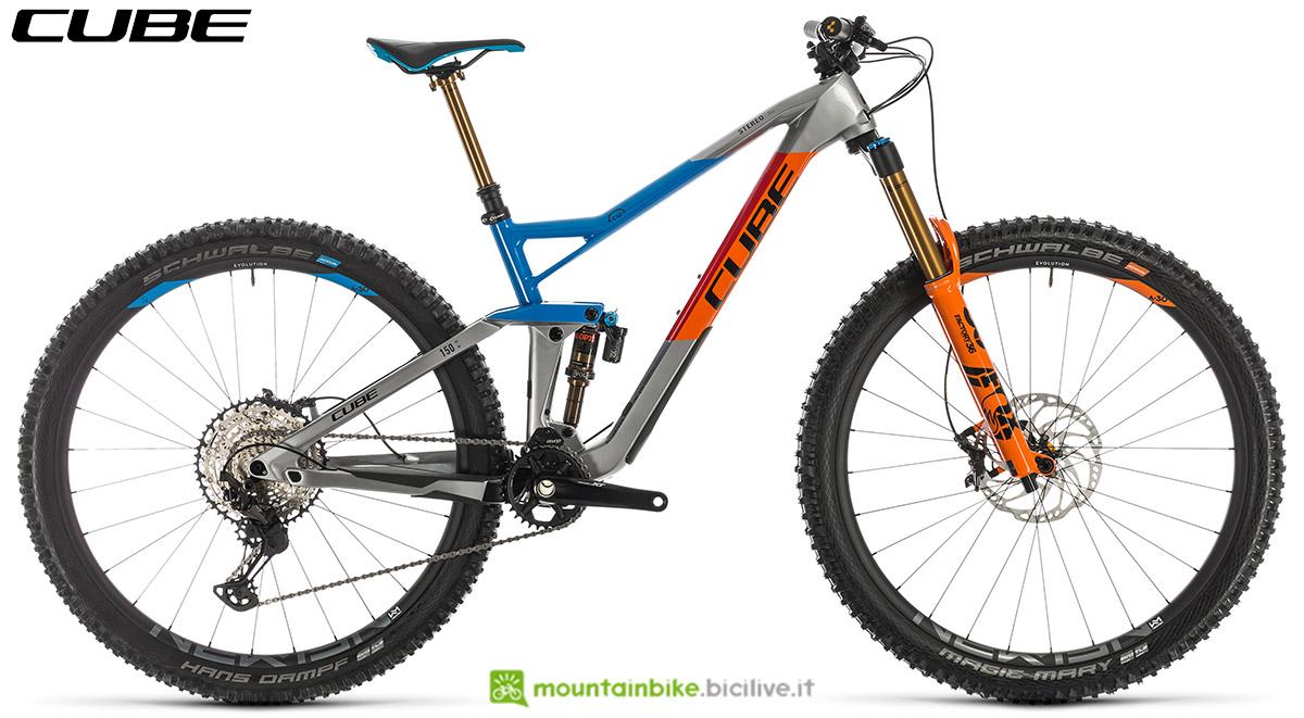 Una bici Cube Stereo 150 C:62 SL 29 2020