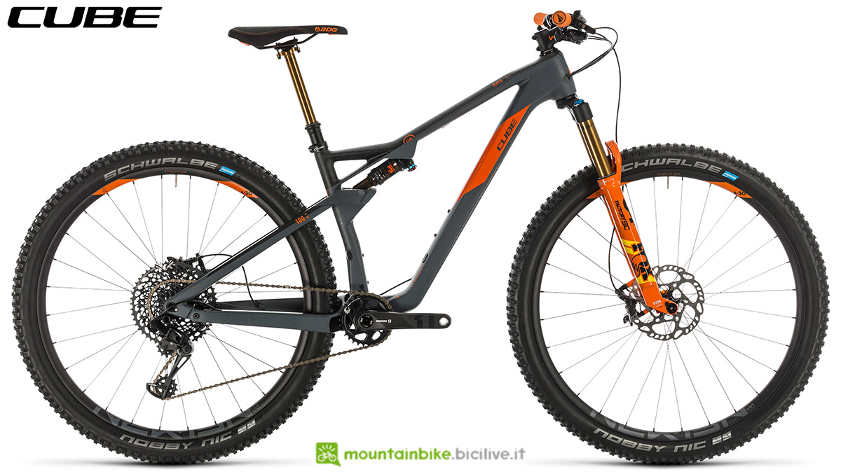 Una bici Cube AMS 100 C:68 TM 29 2020