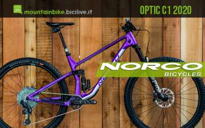 "Norco Optic C1 2020: nuova mountain bike trail 29"" full suspended"