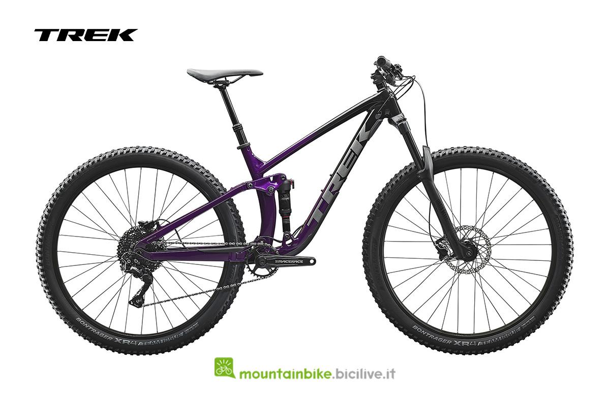 bici laterale Fuel EX 5 viola