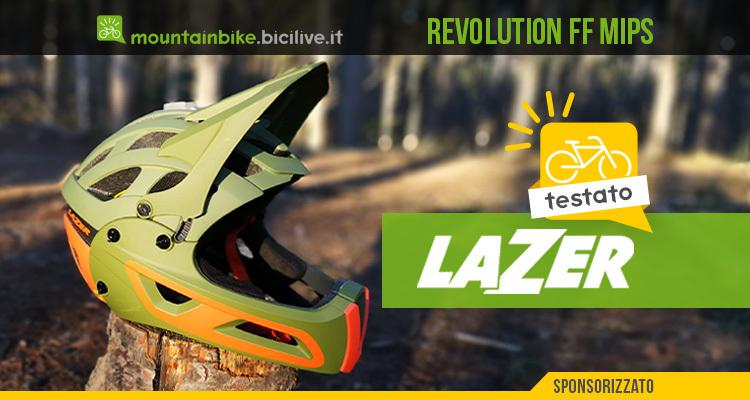 foto del casco lazer revolution ff mips per mtb
