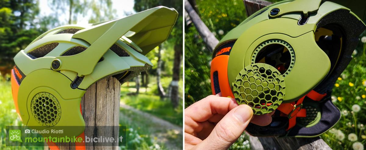 foto dei paraorecchie del casco mtb lazer