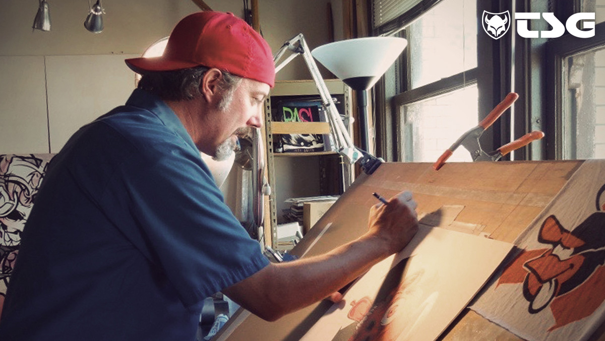 designer Tanner Goldbeck mentre lavora