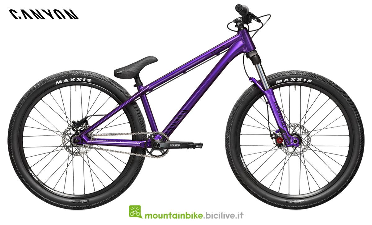 Una bici Canyon Stitched 360 di profilo