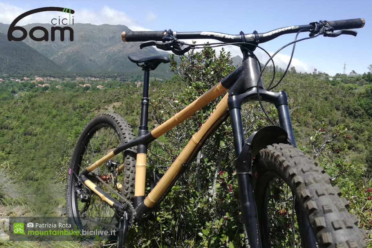 Una mountain bike hardtail in bambù Heidi di BAM Cicli
