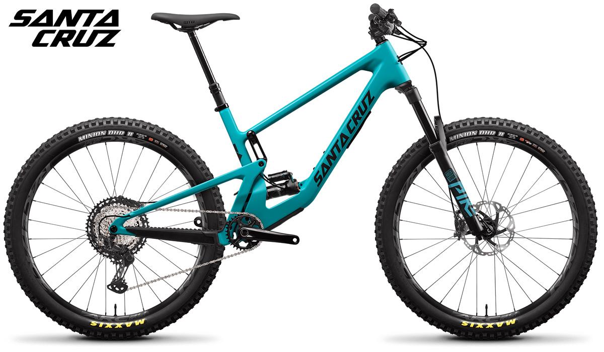 Una mountain bike in carbonio biammortizzata Santa Cruz S 5010